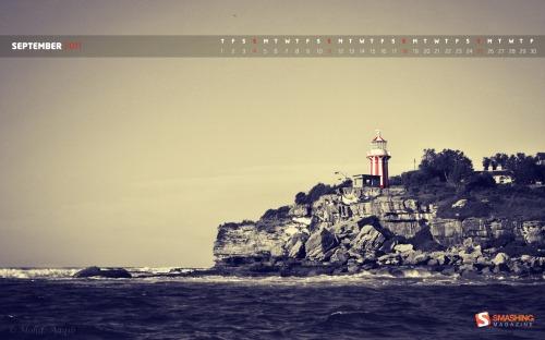 Lighthouse 90 in Desktop Wallpaper Calendar: September 2011