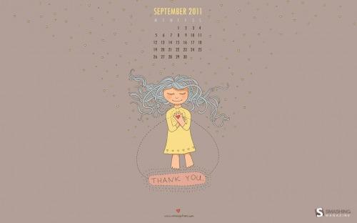 Thank You Soft 12 in Desktop Wallpaper Calendar: September 2011