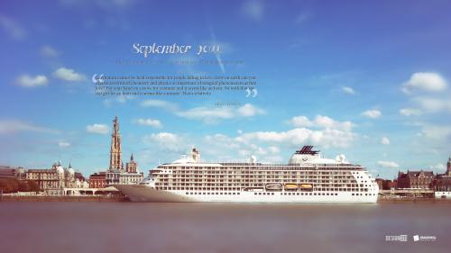 City Of Antwerp 90 in Desktop Wallpaper Calendar: September 2011