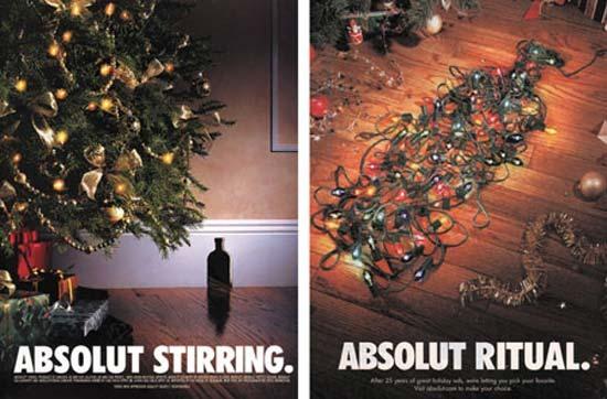 креативная новогодняя реклама