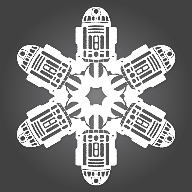Делаем снежинки в стиле «Звездных Войн»