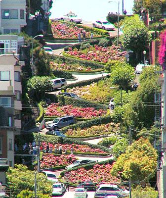 mir  Улица зигзагов и поворотов в Сан Франциско