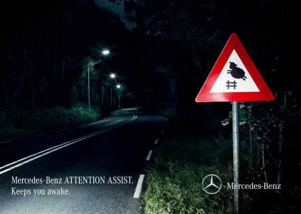 Mercedes-Benz: Attention Assist, Mercedes-Benz, BBDO Proximity, Daimler AG, Печатная реклама