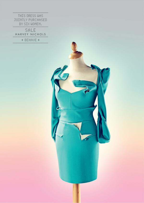 Harvey Nichols: Behave, Dress, Harvey Nichols, Y&R Dubai, Harvey Nichols Group Ltd, Печатная реклама