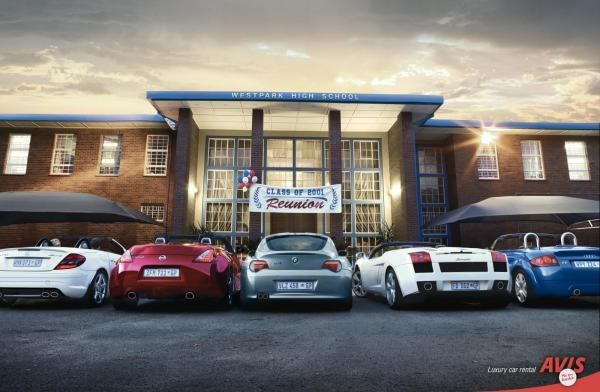 Avis: REUNION, Avis, Ireland/davenport, Johannesburg, Печатная реклама