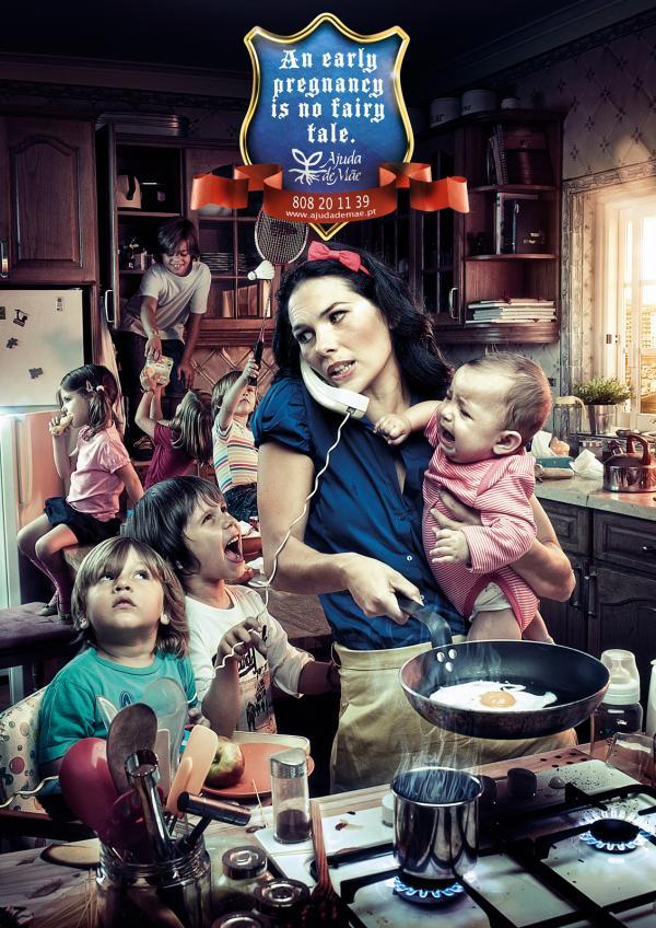 Ajuda de Mae: Fairy tale, Ajuda De Mae, Fuel Portugal, Печатная реклама
