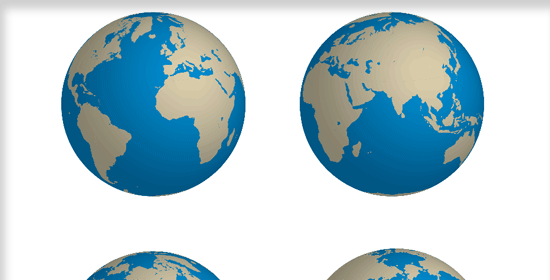 Create a Rotatable Globe in Adobe Illustrator - preview.