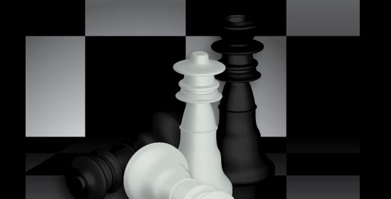 Create a Checkered 3D Chess Figure Scene - preview.