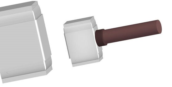 3D Hammer using Illustrator - preview.
