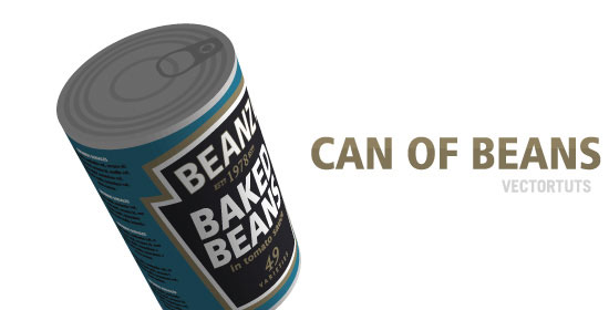 Create a Can of Beans by Mapping Vectors to a 3D Object - preview.