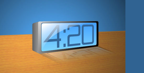 3D Blue LCD Alarm Clock - preview.